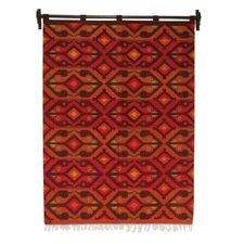 Geometric Hand Woven Wool Andean Birdsong by Eliazar Ochoa Tapestry