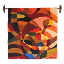 The Birth Hand Woven Cubist Style Wool Tapestry