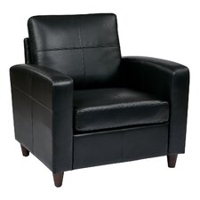 Caswell Leather Lounge Chair by Latitude Run