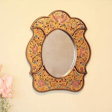 Garden of Reverse Painted Glass Wall Mirror