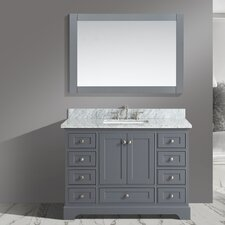 Jocelyn 48 Bathroom Sink Vanity Set with Mirror by Urban Furnishings