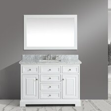 "Rochelle 48"" Bathroom Sink Vanity Set with Mirror"