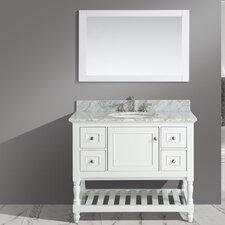 Silvia 42 Bathroom Sink Vanity Set with Mirror by Urban Furnishings