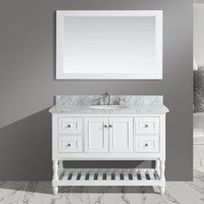 Silvia 48 Bathroom Sink Vanity Set with Mirror by Urban Furnishings