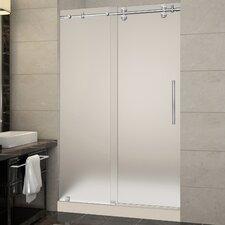 Langham 48 x 77.5 Single Sliding Frameless Shower Door by Aston