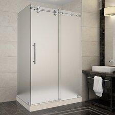 Langham 48 x 35 x 77.5 Frameless Sliding Shower Enclosure by Aston