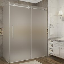 Moselle 60 x 35 x 75 Frameless Sliding Shower Enclosure by Aston