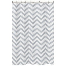 Chevron Microfiber Shower Curtain