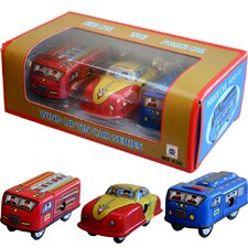 Collectible Decorative Tin Toy Mini Vehicles
