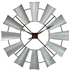 """39"""" Farmhouse Windmill Wall Clock"""