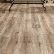 "Restoration™ Wide Plank 8"" x 51"" x 12mm Laminate in Brushed Taupe"
