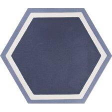 "Mediterranea Hex 8"" x 8"" Quarry Hand-Painted Tile in Purple"