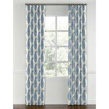 Paisley Blackout Rod Pocket Single Curtain Panel