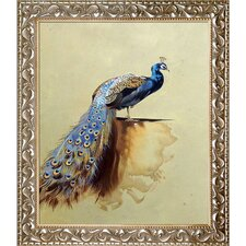 Luxury Line ?Peacock? by Archibald Thorburn Framed Painting  by La Pastiche