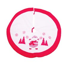 Embroidered Snowman Tree Skirt