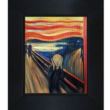 The Scream Edvard Munch' by Edvard Munch Framed Painting on Canvas