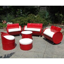 Indoor/Outdoor 6 Piece Seating Group with Cushion by Drum Works Furniture