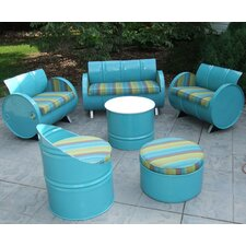 Astoria Lagoon Indoor/Outdoor Garden Patio 6 Piece Seating Group with Cushion by Drum Works Furniture