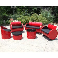 Loft Indoor/Outdoor 6 Piece Seating Group with Cushion by Drum Works Furniture