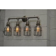 Quadruple 4-Light Vanity Light by West Ninth Vintage