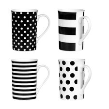 Spots and Stripes 4 Piece Mug Set