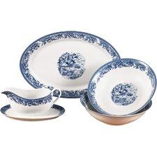 5 Piece Porcelain Serving Set in Blue