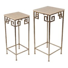 Calonne 2 Piece Marble Nesting Tables by Mercer41™