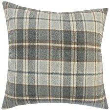Irfan Plaid Wool Throw Pillow