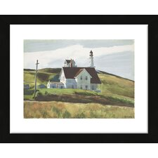 'Hill and Houses, Cape Elizabeth, Maine, 1927' by Edward Hopper Framed Painting Print