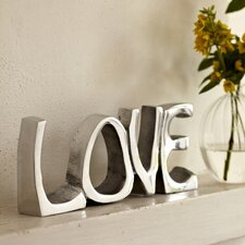 Decorative Fair Trade Stainless Steel Love Sign