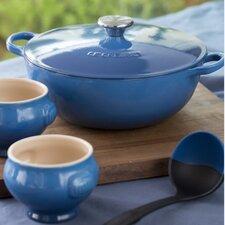 Stoneware 4.25-qt. Soup Pot Set with Lid