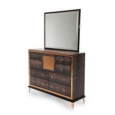 Hollywood Loft 8 Drawer Dresser with Mirror by Michael Amini (AICO)