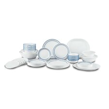 Classic Cafe Living Ware 74 Piece Dinnerware Set, Service for 12
