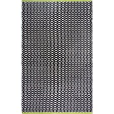 Estate Hand-Woven Black Indoor/Outdoor Area Rug