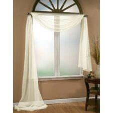 Aurora Sheer Window Scarf Polyester Curtain Valance