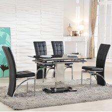 Essgruppe Ravenna mit ausziehbarem Tisch und 4 Stühlen