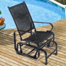 Rattan Glider Rocking Chair