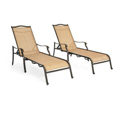 Monaco Chaise Lounge Chair (Set of 2) by Hanover