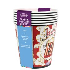 4-qt. Popcorn Bucket (Set of 6)