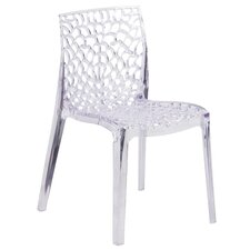 Armless Vision Series Transparent Stacking Chair