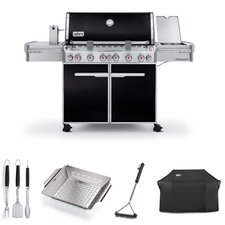 Summit E-670 6-Burner Propane Gas Grill with Side Burner