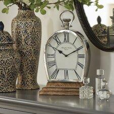 Stainless Steel Frame Mantel Clock