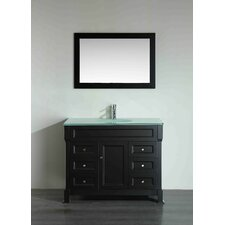 43.3 Single Bathroom Vanity Set with Mirror by Bosconi