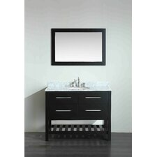 43.3 Single Bathroom Vanity Set with Mirror by Bosconi