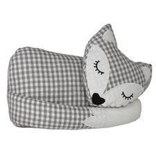 Sleeping Fox Floor Fixed Polyester Door Stop