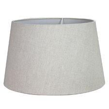 43 cm Trommel-Lampenschirm aus Leinen