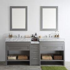 Bolzana 84 Double Vanity Set with Mirrors by Vinnova