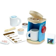 11 Piece Wooden Brew and Serve Coffee Set