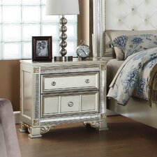 Tiffany 2 Drawer Nightstand by Fairfax Home Collections