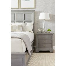 Transitional 3 Drawer Nightstand by Stanley Furniture